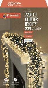 Premier 720 Multi-Action LED Cluster Christmas Tree Lights Timer - WARM WHITE
