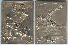 Médaille de table - ARRAS 1908 concours animaux reproducteurs bronze argenté