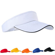 Unisex Men Women Plain Sun Visor Sport Golf Tennis Breathable Cap Hat LY