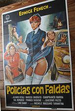 Utilisé - Poster de Cinéma POLICE AVEC JUPES Vintage Movie Film - Occasion