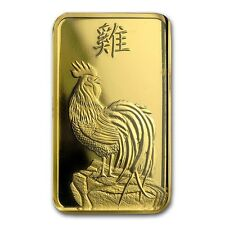 5~GRAM ~ PURE .9999 GOLD ~ YEAR of the ROOSTER ~ PAMP  SUISSE ~ SEALED ~ $278.88