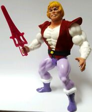 PRINCE ADAM He-Man MOTU vintage complete pink sword red vest belt/yellow buckle