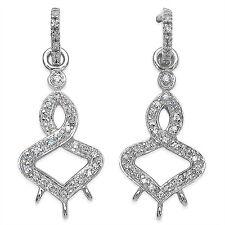 elegante 0,37 carati Zirconia Orecchini pendenti a bottone argento 925 PREZIOSO