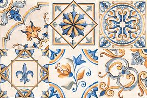 Piastrelle Rondine Tuscany Giotto decoro mix 20,3x20,3cm scatola 30pz  1,24 m²