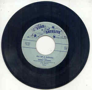 45 -  Bobby D'Fano - All of A Sudden / Baby You Are A Find