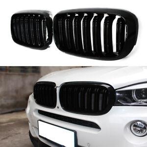 GLOSS BLACK KIDNEY M-STYLE FRONT GRILL FOR BMW X5 F15 X5M F85 X6 F16 X6M F86 NEW