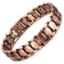 Quality Copper Double Row Magnetic Bracelet - 44 Strong Gauss Magnets + Gift Box