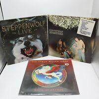 Steppenwolf & Steve Miller Band Vinyl Record Lot Live Monster Book of Dreams 3LP