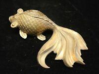 Chinese Feng Shui Bronze Brass Lucky wealth Goldfish Fish Auspicious Statue