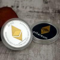 Ethereum Crypto Currency Coin 1oz Silver BLEMISH Finish Novelty Bitcoin BTC ETH