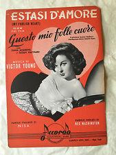 SPARTITO MUSICALE ESTASI D'AMORE MY FOOLISH HEART NISA WASHINGTON V. YOUNG 1949