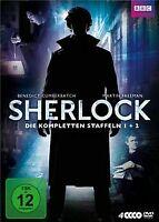 Sherlock - Die kompletten Staffeln 1 + 2 [4 DVDs] von Pau... | DVD | Zustand gut