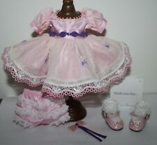 """8"""" Madame Alexander MA Lace Pink n Purple Outfit tagged HUSH-YOU-BYE"""