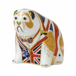 Royal Crown Derby Bulldog VE Day Commemorative Paperweight, Limited Edition