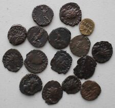 Lot of 16 Roman Bronze Coins Valerian Assorted You Id Nice Details You Grade