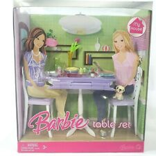 Barbie My House Table Set Chairs Pet Dog L9480 2008 NEW
