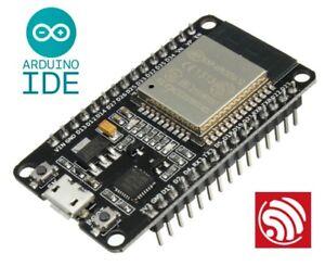 ESP32  32bit WiFi / Bluetooth microcontroller USB / 3.3V (or 5V Vin) standalone