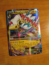 NM MEGA Pokemon M AMPHAROS EX Card ANCIENT ORIGINS Set 28/98 XY X Y Ultra Rare