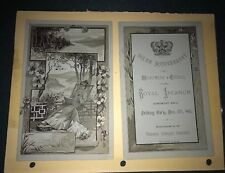 KK508 Royal Arcanum 1883 Sixth Ann. Progam Menu Boston Mass Fraternity