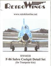 RetroKits Models 1/144 F-86 SABRE JET COCKPIT DETAIL SET Resin Update Kit