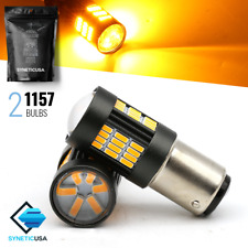 Syneticusa:1157/2396 Amber Yellow Turn Signal Parking 4014SMD 54-LED Light Bulbs