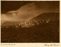 THE VANISHING RACE - FACING THE SUNSET - PHOTOGRAVURE, AUTHENTIC  67