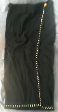 Spazio 1980s long black wrap around skirt. New w/tag. - Size Italy 40 (UK 8)