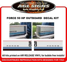 1984  CHRYSLER FORCE 50 hp Outboard decal set  reproduction
