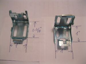 """2 NEW METAL BRACKETS HOLDERS AND SCREWS FOR 1"""" WINDOW BLINDS~MINI SHADES~HOOKS"""
