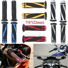 "Motorcycle 7/8"" Hand Grips Handle Bar For Suzuki GSXR600 750 1000 Honda CBR600RR"