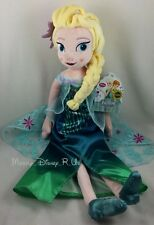 "New Genuine Disney Store ELSA Frozen Fever 20"" Spring Summer Plush Toy Doll"