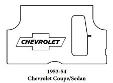 1953 1954 Chevrolet Trunk Rubber Floor Mat Cover with G-010 Chev Bowtie