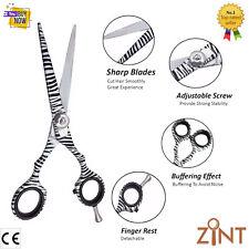 Professional barber hairdressing scissor hair cutting salon zebra color Shears 6