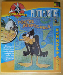 LOONEY TUNES PHOTOMOSAICS 1000 Piece Puzzle Daffy Duck New Sealed 27 x 20 inches