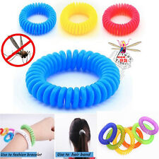 10 Pcs Anti Mosquito Insect Repellent Wrist Hair Band Bracelet Outdoor Camping