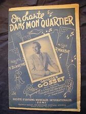 Partitur Auf singt in mon stadtviertel Georges Gosset Music -blatt 1945