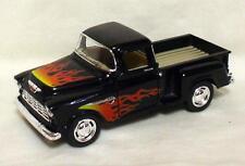 Kinsmart 1955 Chevrolet Stepside w/ Flames 1:32 scale # Kt 5330Df Blk