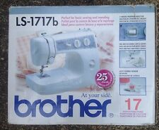 BROTHER LS-1717b SEWING MACHINE with FOOT PEDAL, 17 STITCH, USED in BOX, WORKING