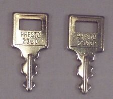 Presto Mini Key # 2360 Vintage Luggage Suitcase Guitar Case Lot Of 2