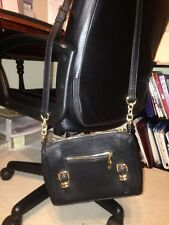 BRAND NeW Black leather Women's Shoulder bag w adjustable strap from CHARLIE
