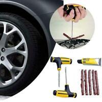 8pc Car Tubeless Tyre Tire Puncture Repair Plug Repair Kit Patch Tool Needl