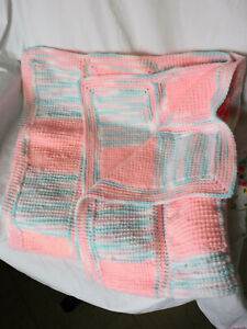 Knitted Baby Blanket For Crib or Carriage, 32 X 40 in. NEW