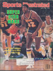 Lakers Magic Johnson Signed June 1984 Sports Illustrated Magazine BAS #MJ15320