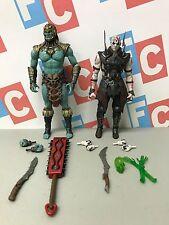 "Mortal Kombat X Mezco Toyz Collectible 6"" Quan Chi Kotal Khan Kahn Figures Lot"