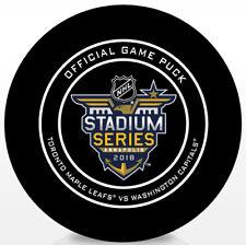 2018 Stadium Series Official Hockey Game Puck Toronto Maple Leafs vs Washington