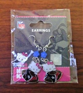 New NFL Hello Kitty Houston Texans Earrings New With Tags (1 Pair)