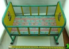 "1950s Vintage J.Chein & Co. Doll Play Rocking Crib Metal Made in USA  19""x13x11"""