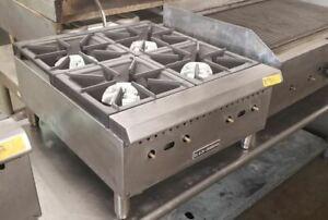 Black Diamond Counter Top Gas 4 Burner 24'' Hot Plate Range BDCTH-24