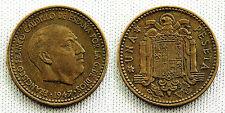 ESTADO ESPAÑOL 1 PESETA 1947*19-54 MADRID XF-/EBC- ESCASA