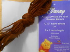 "Winne the Pooh Character Colours Stranded Cotton ""Owl Dark Brown CT21"""
